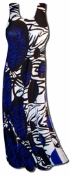 SOLD OUT!!!!!!!!!!!!Customizable! New! Blue & Black Geometric Animal Print Plus Size & Supersize A-line or Princess Cut Tank Dresses & Tops! 0x 1x 2x 3x 4x 5x 6x 7x 8x