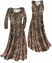 SOLD OUT! SALE! Brown & Black Animal Print Slinky Plus Size & Supersize Shirt 3x
