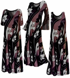 SOLD OUT!!!!!!!!!!!!!!!Customizable! New! Brown, Black & Cream Hawaiian Floral Slinky Plus Size & Supersize Customizable A-Line or Princess Cut Dresses & Shirts, Jackets, Pants, Palazzo's or Skirts Lg XL 0x 1x 2x 3x 4x 5x 6x 7x 8x 9x