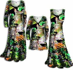 SOLD OUT!!!!!!!!!Customizable! New! Colorful Green Jungle Print Slinky Plus Size & Supersize Customizable A-Line or Princess Cut Dresses & Shirts, Jackets, Pants, Palazzo's or Skirts Lg XL 0x 1x 2x 3x 4x 5x 6x 7x 8x 9x