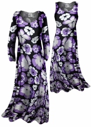 SOLD OUT!!!!Customizable! New! Lightweight Black & Purple Print Slinky Plus Size & Supersize Customizable A-Line or Princess Cut Dresses & Shirts, Jackets, Pants, Palazzo's or Skirts Lg XL 0x 1x 2x 3x 4x 5x 6x 7x 8x 9x