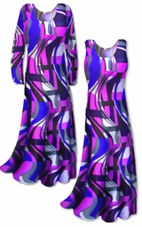 SOLD OUT!!!!!!!!!!! Customizable! New! Purple Slinky Geometric Yummy Plus Size & Supersize Customizable A-Line or Princess Cut Dresses & Shirts, Jackets, Pants, Palazzo's or Skirts Lg to 9x