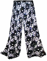 SOLD OUT!!!!!!!!!!! Customizable! New! Sparkly Sequins Black & White Floral Slinky Plus Special Order Customizable Plus Size & Supersize Pants, Capri's, Palazzos or Skirts! Lg to 9x