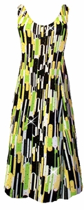 SOLD OUT!!!!!!!!Cute Yellow and Green Slinky Plus Size & Supersize Princess Cut Dress