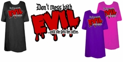 SOLD OUT!! SALE! Don't Mess with Evil Plus Size T-Shirts 2XL
