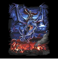 SOLD OUT!!Dragon Rider Tattoo Plus Size & Supersize T-Shirts