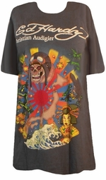 Sold Out!!! Ed Hardy Charcoal Kamikaze Plus Size T-Shirts by Christian Audigier 2x 3x