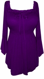 Sold Out!!! Eggplant Lace Trim Bell Sleeve Yummy Soft Plus Size Shirts  4x 5x 6x