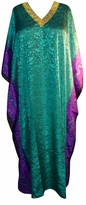 SOLD OUT! Emerald Green Fade to Purple Poly/Satin Plus Size & Supersize Caftan Dress 1x to 6x