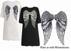 FINAL SALE! Back Angel Wings Plus Size Turquoise T-Shirts LG XL Plus Size 1x 3x Supersize
