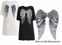 FINAL SALE! Back Angel Wings Plus Size Turquoise T-Shirts XL 2xl 3xl 4x Plus Size 1x 3x Supersize