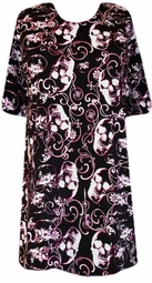 SOLD OUT!!!!!!!! FINAL SALE! Hot Pink, White & Black Skull Print Plus Size Shirt  XL