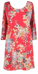 SOLD OUT!!!!!!!!! FINAL SALE! Pretty Confetti Red Flowery Slinky Plus Size & Supersize Shirts 2x