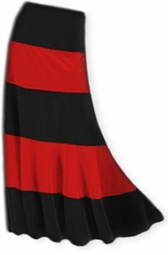 SOLD OUT!!!!!!!!!!! FINAL SALE! Pretty Solid or Multi Black & Red Plus Size Elastic Waist Crush Velvet Tiered Skirt  1x