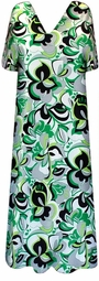 SOLD OUT!  Gorgeous Black and Green Floral Slinky Plus Size & Supersize Customizable Dresses, Shirts, Pants, Skirts  or Jackets Lg to 9x