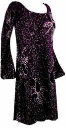 SOLD OUT! Gorgeous Black & Lavender Glittery Roses Plus Size & Supersize Customizable Evening Shirt or Jacket Lg to 2X