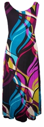 SOLD OUT!!!Gorgeous Tropical Abstract Slinky Plus Size & Supersize Princess Cut Tank Dresses