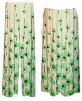 SOLD OUT! Green Vines Slinky Plus Size & Supersize Pants & Skirts