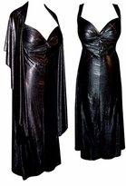 SOLD OUT!!!!!!!!!!Hot! 2 Piece Princess Seam Dress Set: Black/Silver Metallic Winter Night Sky 0x 1x 2x 3x 4x 5x 6x 7x 8x