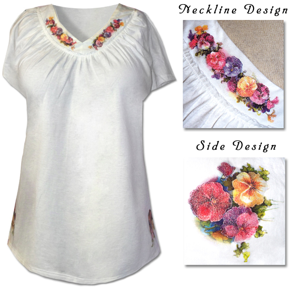 d1f3914d25c Just my Size Ultra Soft Cotton Short Sleeve Plus Size Shirts with Floral  Print 3x4x