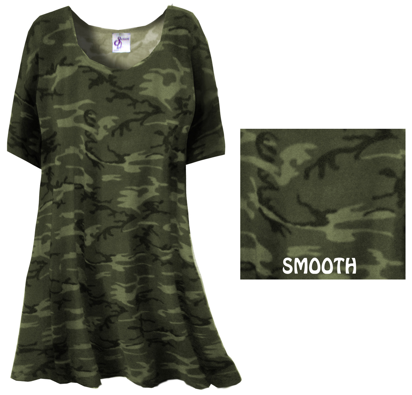 Sold Out Clearance Khaki Green Camo Plus Size