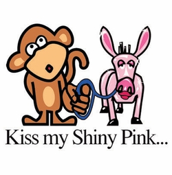 SOLD OUT!!!Kiss My Shiny Pink Plus Size & Supersize Dog T-Shirts S M L XL 2x 3x 4x 5x 6x 7x 8x (Lights Only)