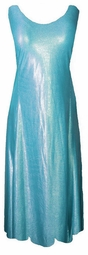 SOLD OUT!!!! Lovely Blue Silver Waterfall Slinky Plus Size & Supersize Princess Cut Tank Dresses  3x