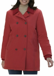 SOLD OUT! Lovely Red Microfiber Plus-Size Pea Coat 22w/2x