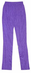 SOLD OUT! Lovely Solid Amethyst Purple Slinky Plus Size Elastic Waist Pants 3x 4x