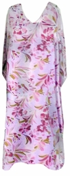 SOLD OUT!!!!!!!!!!!! Magenta Pink Beige Floral Print Poly/Satin Plus Size & Supersize Caftan Dress or Shirt 1x to 6x