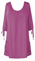 SOLD OUT!!!!Magenta Slinky Pocket Babydoll Tops