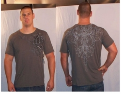 SOLD OUT!! Monarchy Dark Gray Plus Size T-Shirt Dagger Back XXL 2xl (Unisex)