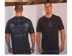 SOLD OUT! Monarchy Skull Mask & Dagger Black T-Shirt XXL 2xl (Unisex)