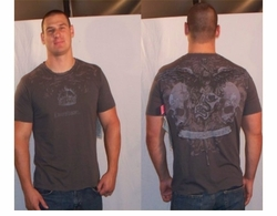 SOLD OUT! Monarchy Skull Mask & Dagger Taupe T-Shirt XXL 2xl (Unisex)