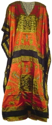 SOLD OUT!!!New! Beautiful Orange and Gold Poly/Satin Plus Size & Supersize Caftan Dress 1x to 6x