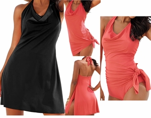 SOLD OUT!!!!!!!! NEW! Black Convertible Plus Size SwimDress 34w 4x 5x
