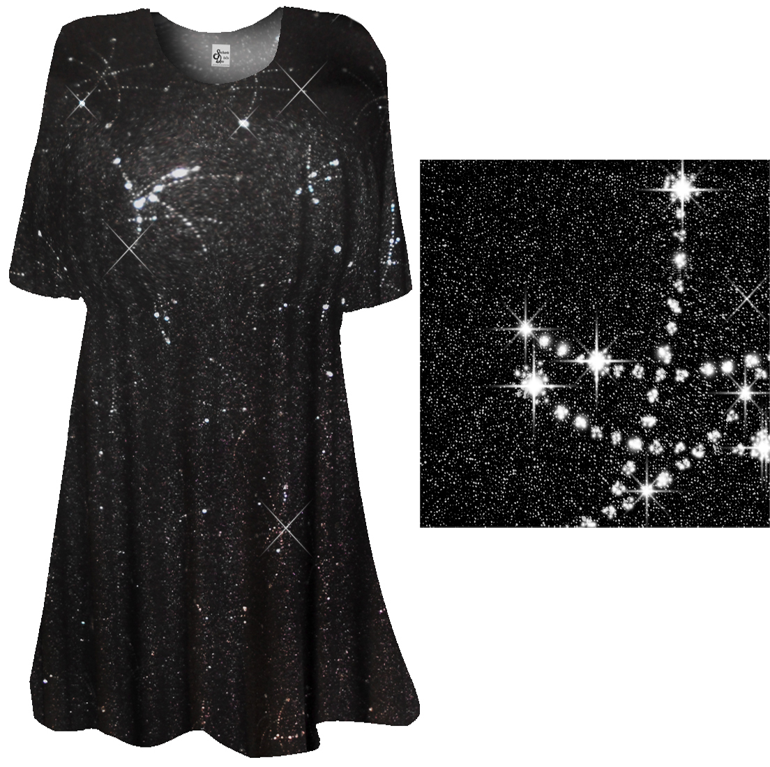Sold Out Black Silver Sparkly Plus Size Supersize