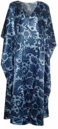 SOLD OUT!!!!!New!  Blue Paisley Print Poly/Satin Plus Size & Supersize Caftan Dress 1x to 6x