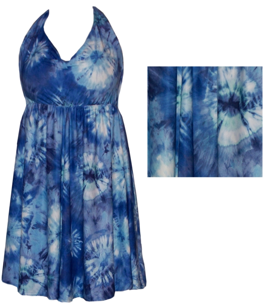 7bfc41f6447c0 SOLD OUT! New! Blue Tiedye Plus Size & Supersize 2 Piece Halter ...