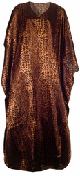SOLD OUT!!!!!!New!  Bronze Leopard Print Poly/Satin Plus Size & Supersize Caftan Dress 1x to 6x
