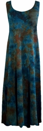 SOLD OUT!  New Brown and Aqua Plus Size Princess Cut Dress 2x