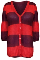 SOLD OUT!!!!!New! Burgundy and Orange Striped Plus Size Cardigan 2x
