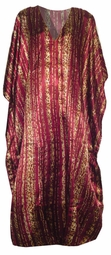 SOLD OUT!!!!!New! Burgundy Leopard Stripe Print Poly/Satin Plus Size & Supersize Caftan Dress 1x to 6x