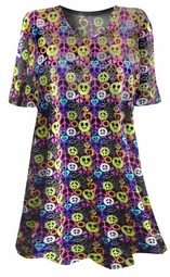 SOLD OUT!!!!!!!!!!! NEW! Colorful Flower Power Peace Sign Plus Size & Supersize T-Shirts 4x