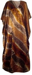 SOLD OUT!!!!!!New!  Gold, Silver & Bronze Print Poly/Satin Plus Size & Supersize Caftan Dress 1x to 6x