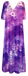 SOLD OUT! New! Gorgeous Floral TieDye Purple Hues Slinky Plus Size & Supersize Customizable Dresses, Shirts, Pants, Skirts  or Jackets Lg to 9x