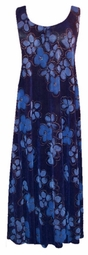 SOLD OUT! New! Gorgeous Navy and Blue Glitter Spring Flowers Slinky Plus Size & Supersize Customizable Tank Top Lg to 4x