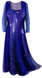 SOLD OUT!!!!!!!!!!!!NEW! Gorgeous Sparkly Dark Navy Blue Sequins Plus Size & Supersize Princess Cut or A-line Evening Gown Dress Lg to 8x