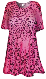 SOLD OUT!!!!!!!!!! NEW! Hot Fucshia Pink & Black Leopard Print Plus Size & Supersize Extra Long T-Shirts 0x 1x 2x 3x 4x 5x 6x 7x 8x Customizable!