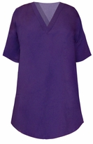 SOLD OUT! New!  Lovely Purple Plus Size Scrub Top 4xl